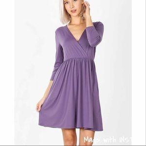 Zenana dress wrap lavender dress